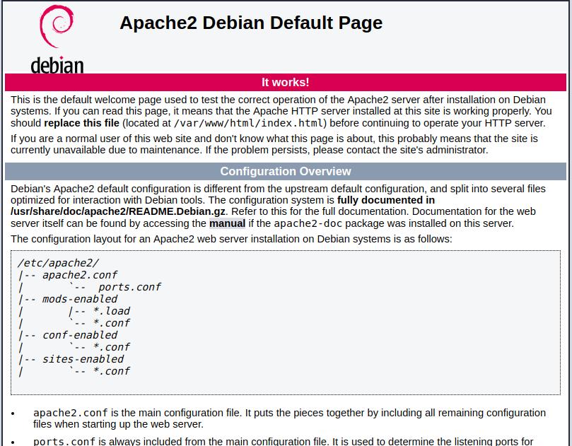 Debian Apache Default Page