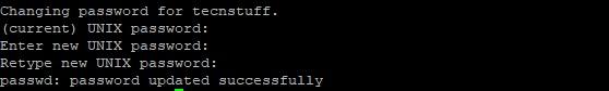 Change User Password in Linux