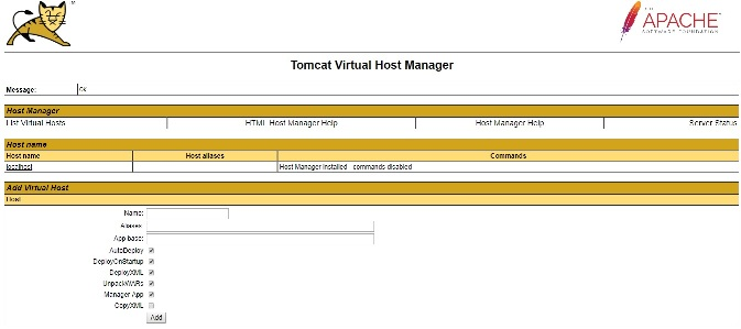 how to install tomcat 9 virtual host manager