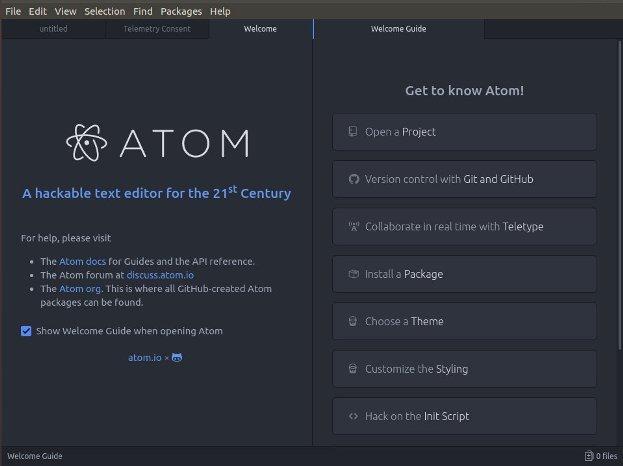 debian atom text editor