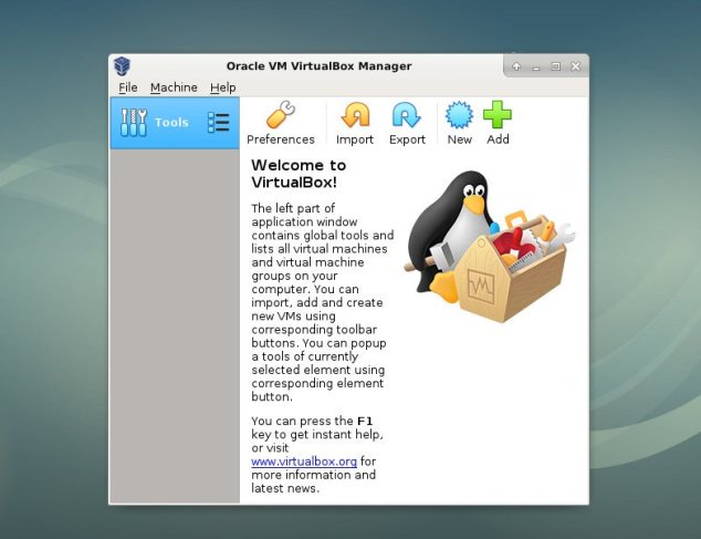 debian launch virtualbox