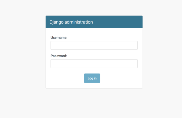 django admin login page