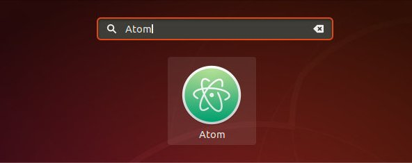ubuntu launch atom