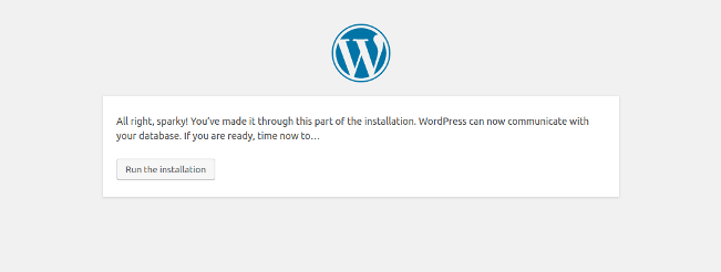 wordpress-run-installation