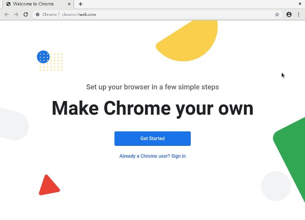centos google chrome welcome page