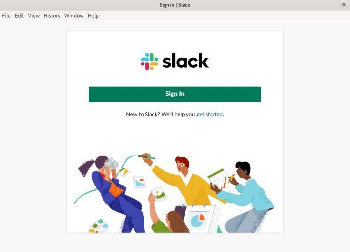 slack start up window