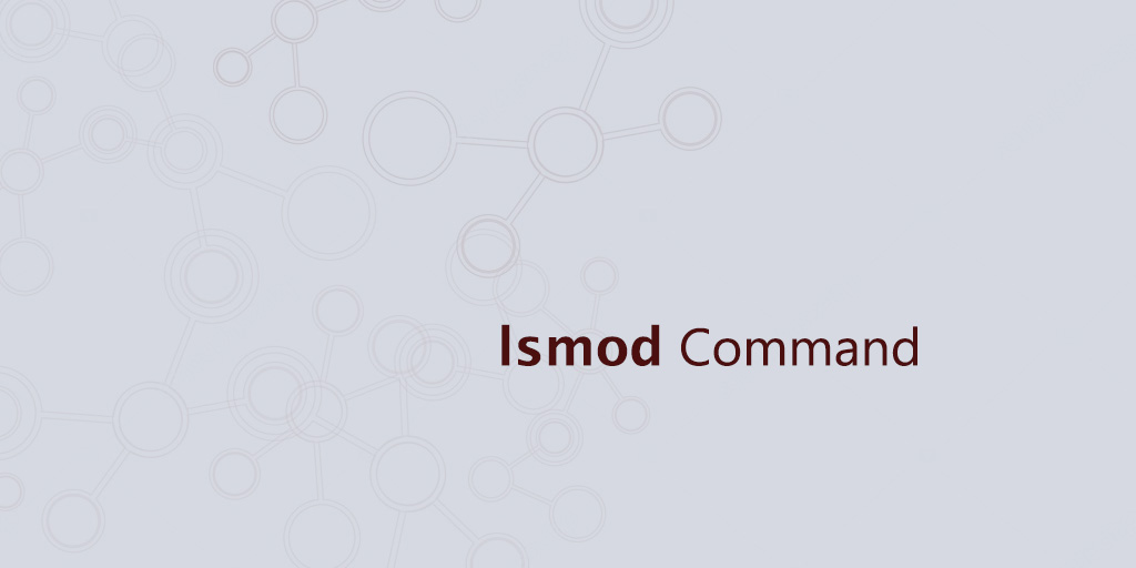 lsmod command in linux