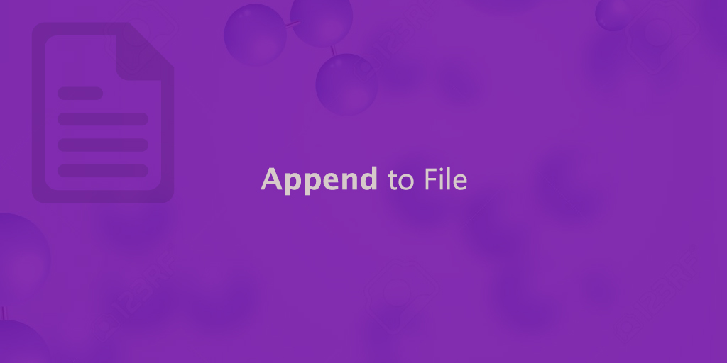 Append to File