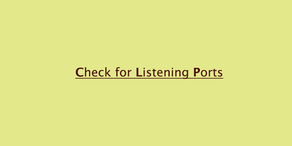 How to Check for Listening Ports in Linux (Ports in use)