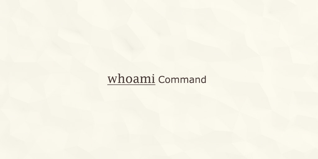 Whoami Command in Linux