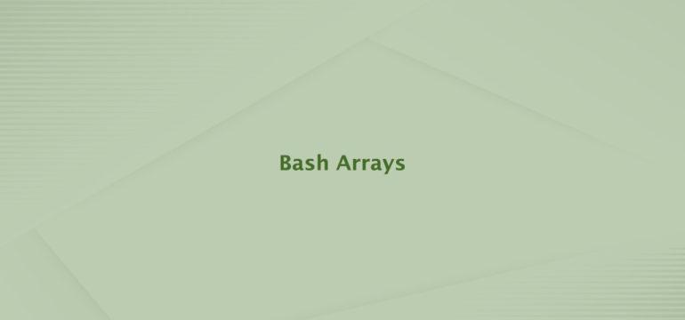 Bash Arrays
