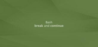 Bash break and continue