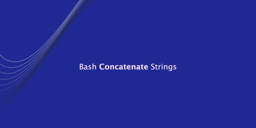 Bash Concatenate Strings
