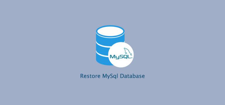 How to BackUp and Restore MySQL Database with Mysqldump