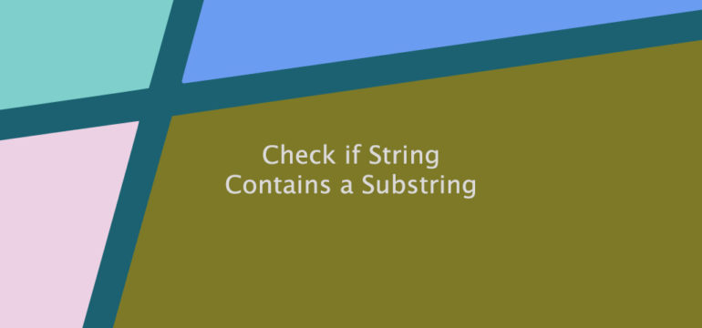 Check if a String Contains a Substring in Bash