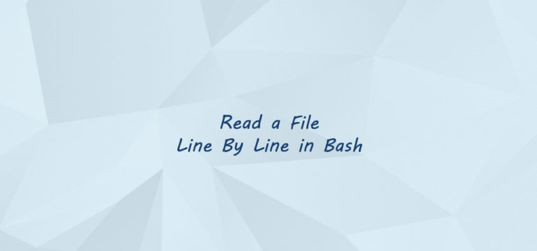 Read a File Line By Line in Bash