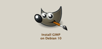 How to Install GIMP on Debian 10